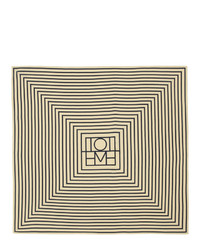 Totême Off White And Navy Silk San Remo Scarf