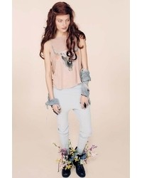 Wildfox Couture Cherie Skull Cassidy Tank In Almond