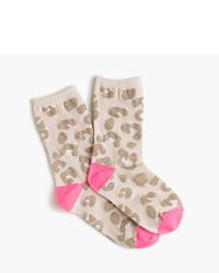 J.Crew Girls Leopard Print Socks
