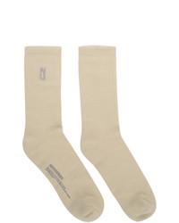AFFIX Off White Long Socks
