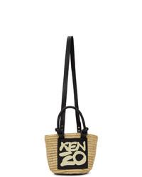 Kenzo Beige Mini Kopakabana Basket Bag