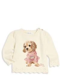 Beige Print Sweater