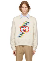 Gucci Off White Interlocking Flash Sweatshirt