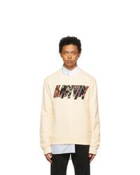 Lanvin Off White Logo Applied Sweatshirt
