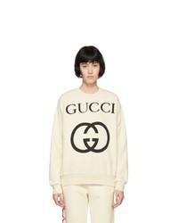 Gucci Off White Oversized Logo Sweatshirt