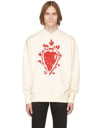Alexander McQueen Off White Painted Heart Sweatshirt