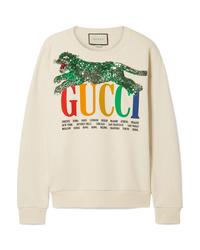Gucci Oversized Embellished Printed Cotton Terry Sweatshirt