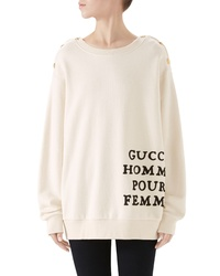 Gucci Patched Cotton Jersey Sweatshirt