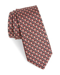 Gucci Double G Heart Silk Tie
