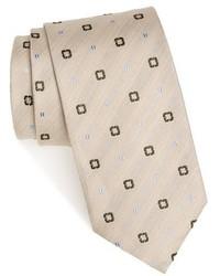 Strong suit medallion silk linen tie medium 1159102