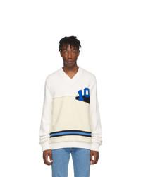 Maison Margiela Off White Varsity Sweater