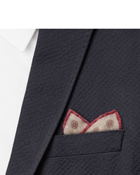 Brunello Cucinelli Medallion Print Wool Pocket Square