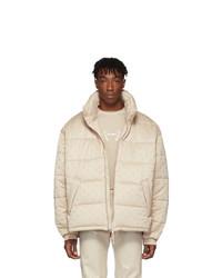 Gmbh Beige Debs Jacquard Puffer Jacket