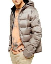 Topman Hooded Puffer Jacket