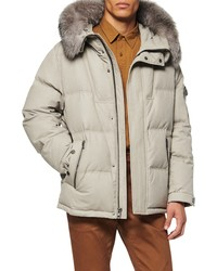Andrew Marc Koriabo Down Jacket With Removable Genuine Fox
