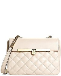Beige Quilted Crossbody Bag