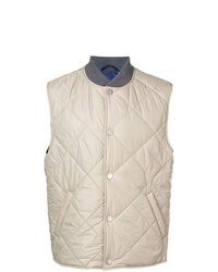 Beige Quilted Gilet