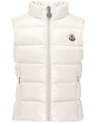 Moncler Ghany Quilted Down Vest Cream Size 4 6