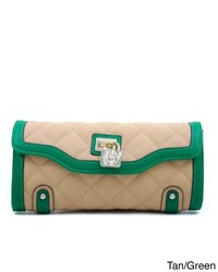 Anais Gvani Classic Quilted Two Tone Clutch Style Wallet