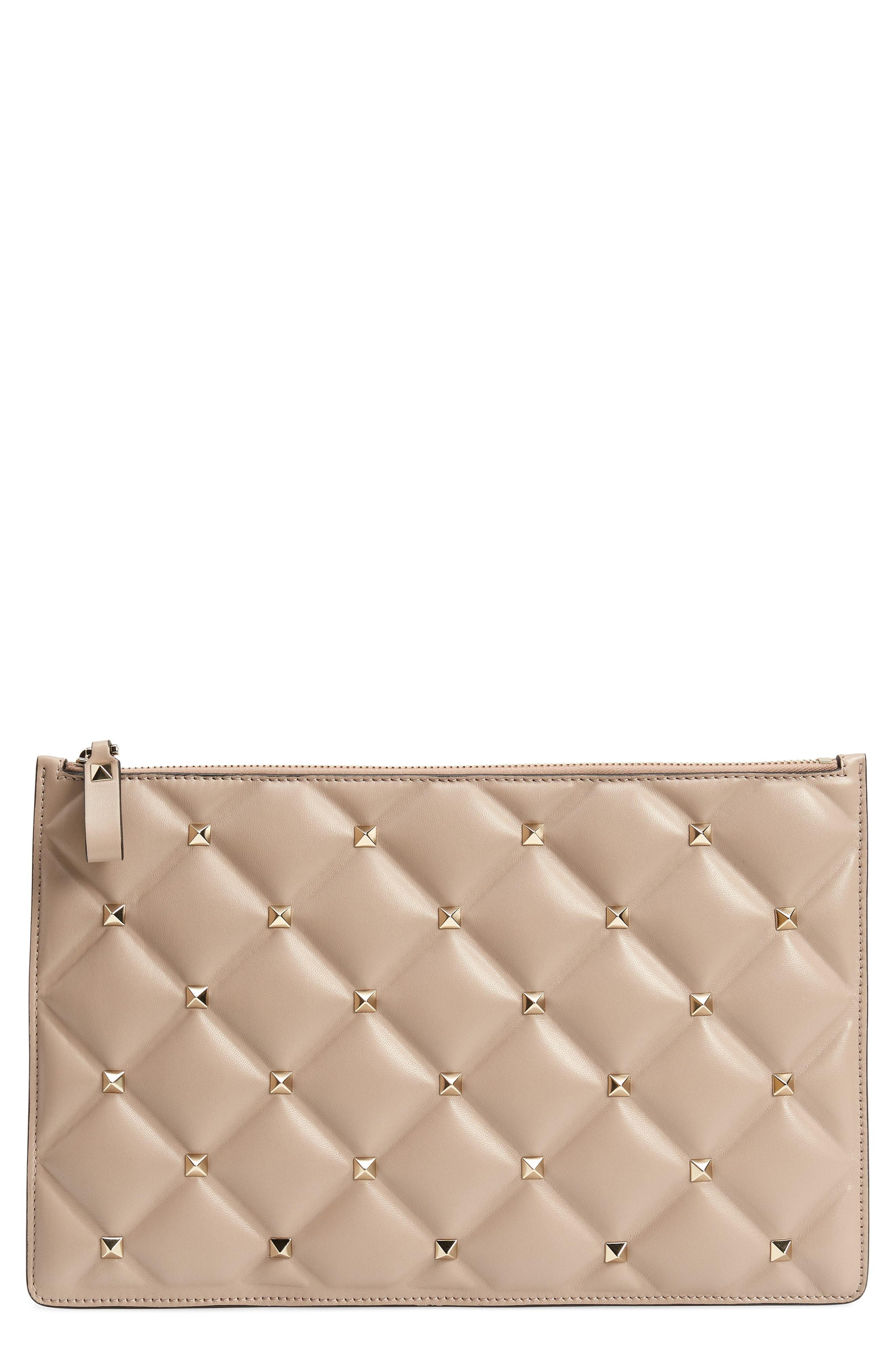 Valentino Garavani Large Candystud Leather Pouch