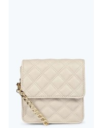 Boohoo Holly Quilted Chain Cross Body Bag