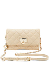 DKNY Quilted Leather Small Flap Crossbody