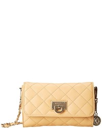 DKNY Gansevoort Quilted Nappa Small Flap Crossbody W Det Chain Handle