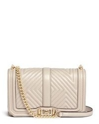 Rebecca Minkoff Geo Quilted Leather Love Crossbody Bag
