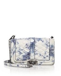 Rebecca Minkoff Love Quilted Marbled Leather Crossbody Bag