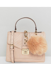 Aldo Blush Tote Bag With And Chain Detail