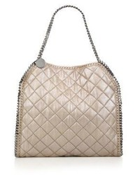 Stella McCartney Falabella Metallic Quilted Faux Leather Tote