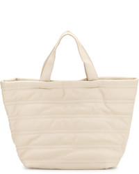 Quilted large tote bag almond medium 636285