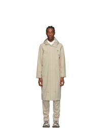 A-Cold-Wall* Beige Contrast Stitch Windbreaker Coat