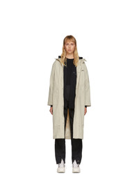 A-Cold-Wall* Beige Contrast Stitch Windbreaker Coat