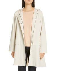Eileen Fisher Hooded A Line Coat