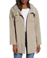 Gallery Pleated Collar A Line Water Repellent Raincoat