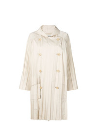 Issey Miyake Vintage Pleated Double Breasted Raincoat