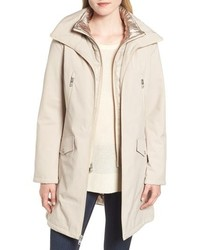 Kenneth Cole New York Raincoat With Quilted Bib Lining