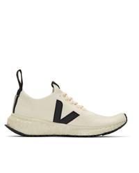 Rick Owens Beige Veja Edition V Knit Sneakers