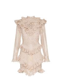 Zimmermann Unbridled Battenburg Lace Mini Dress
