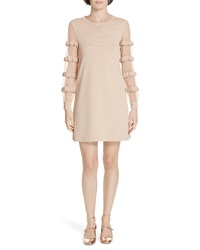 RED Valentino Ruffle Point Desprit Sweater Dress