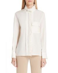 Chloé Ruffle Trim Silk Shirt