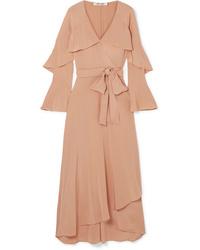 Diane von Furstenberg Isla Ruffled Silk De Chine Wrap Dress