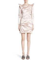 Marc Jacobs Ruched Silk Duchess Satin Dress