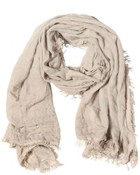 Diesel Viscose Blend Scarf With Fringed Edges