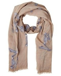 Elsa marotta praying skeleton cashmere scarf medium 93266