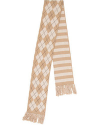 Burberry Girls Patterned Fray Trimmed Scarf