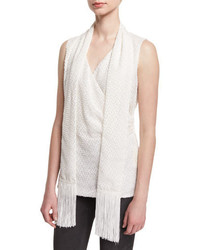 St. John Collection Fil Coup Shell W Fringe Scarf Frost