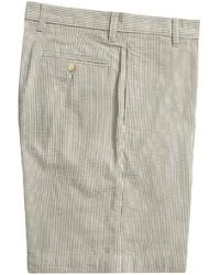 Vintage 1946 Cotton Seersucker Shorts Flat Front