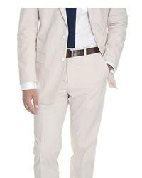 Beige Seersucker Suit